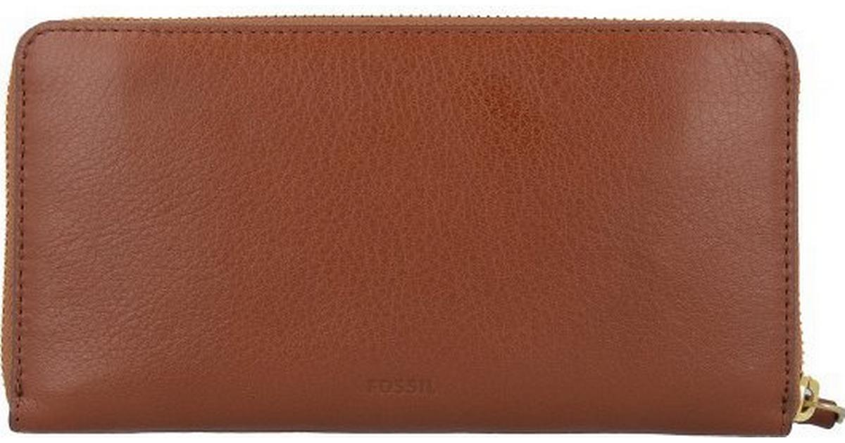 b8408c34062 Fossil Caroline RFID Zip Around Wallet - Brown (SL7354P) - Sammenlign  priser hos PriceRunner