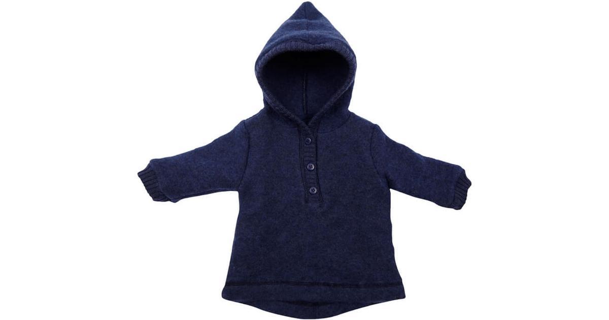 7e0af3af Mikk-Line Baby Wool Jacket With Hat - Blue (50006-276) - Sammenlign priser  hos PriceRunner