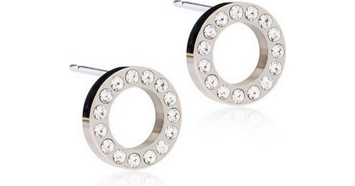 Blomdahl Brilliance Puck Hollow Titanium Earrings w. Transparent Crystal -  1cm - Hitta bästa pris ecef4f263230d