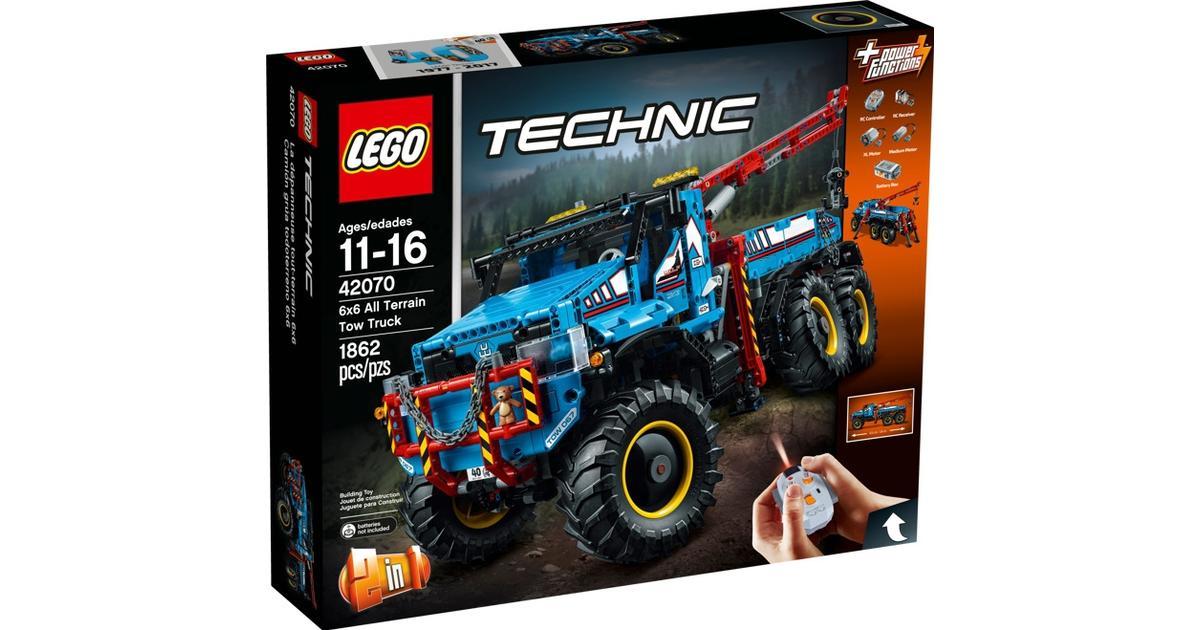 be82bf9eeb7 Lego Technic Terrængående 6x6 Kranvogn 42070 - Sammenlign priser hos  PriceRunner