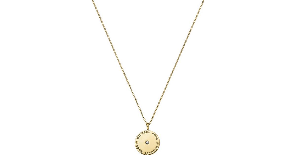 0ad9356b3e7d Michael Kors Heritage Stainless Steel Gold Plated Necklace w. Transparent  Cubic Zirconium - 50cm (MKJ2654710) - Sammenlign priser hos PriceRunner
