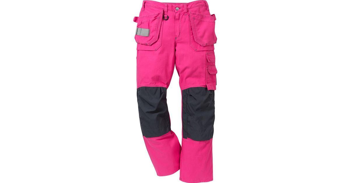 rosa arbetsbyxor dam
