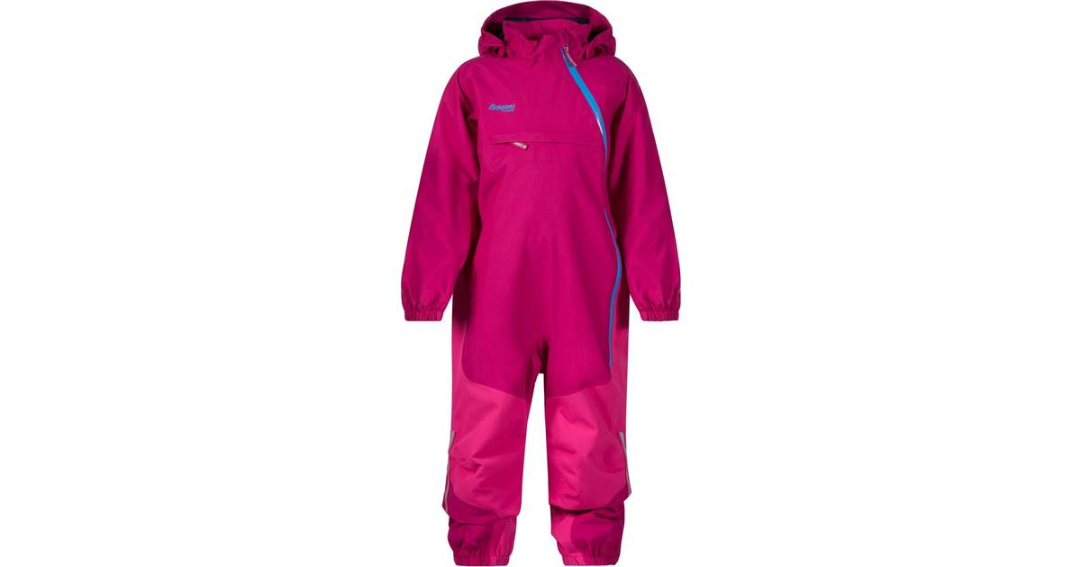 0b150054 Bergans Snøtind Insulated Kids Coverall - Cerise/Hot Pink/Light Winter Sky  - Sammenlign priser hos PriceRunner
