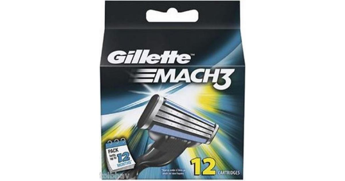 gillette mach3 rakblad 12 pack