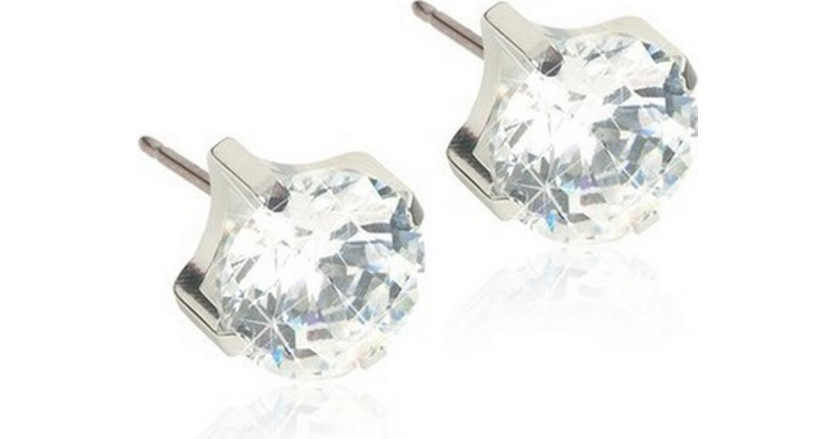 Blomdahl Skin-Friendly Medical Titanium Earrings w. Swarovski Crystals -  0.5cm (15‑1404‑30) - Hitta bästa pris be657d5ed54d7