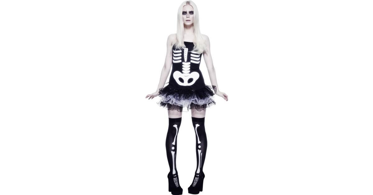 Smiffys Fever Skelettklänning Maskeraddräkt - Hitta bästa pris ... 255d0c493792c