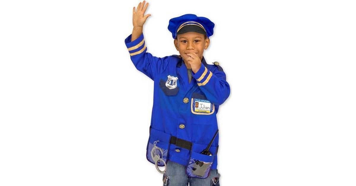 Melissa   Doug Police Officer Role Play Costume Set - Hitta bästa pris a351b099f95c7