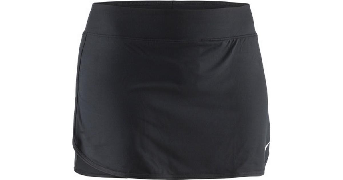 5ea58dd0570 Nike Court Pure Skirt Women - Black/White - Sammenlign priser hos  PriceRunner