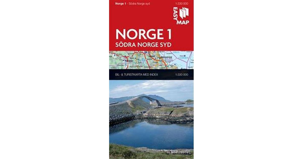 Karta Syd Norge.Sodra Norge Syd Easymap 1 330000 Karta Falsad 2015 Hitta