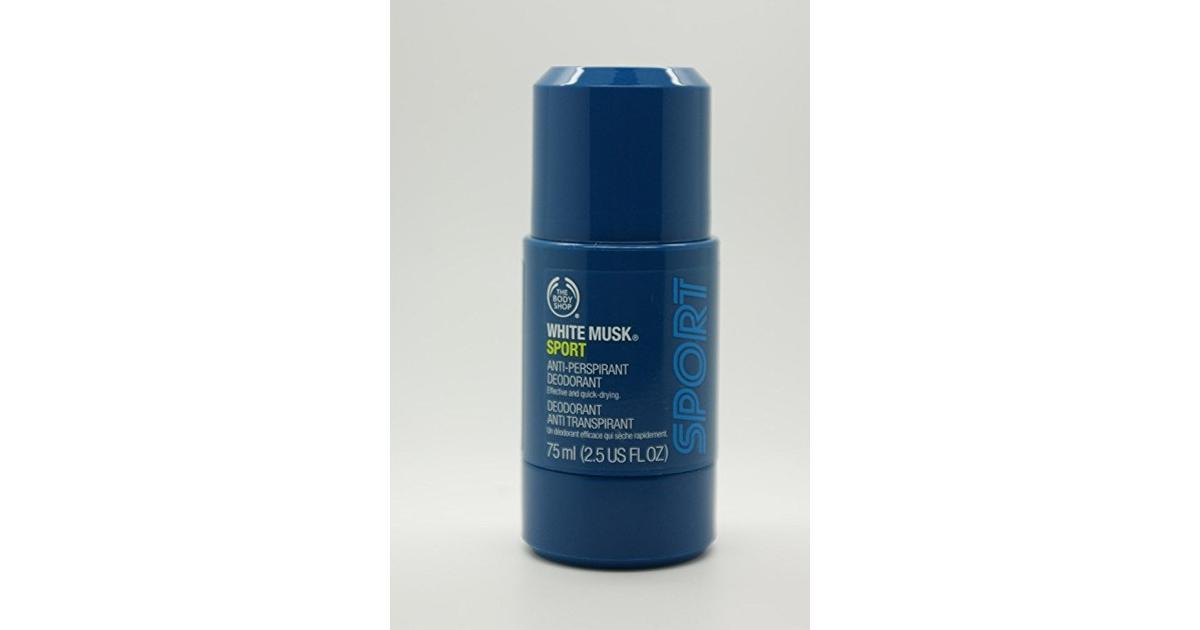 08bdf97e4 The Body Shop White Musk Sport Anti-Perspirant Deo 75ml - Sammenlign priser  hos PriceRunner