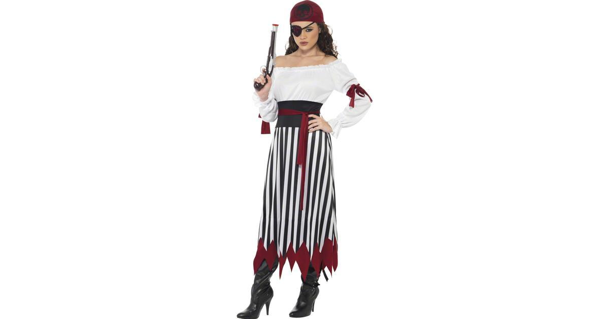 Smiffys Pirat Lady Maskeraddräkt - Hitta bästa pris 5628bd4902670
