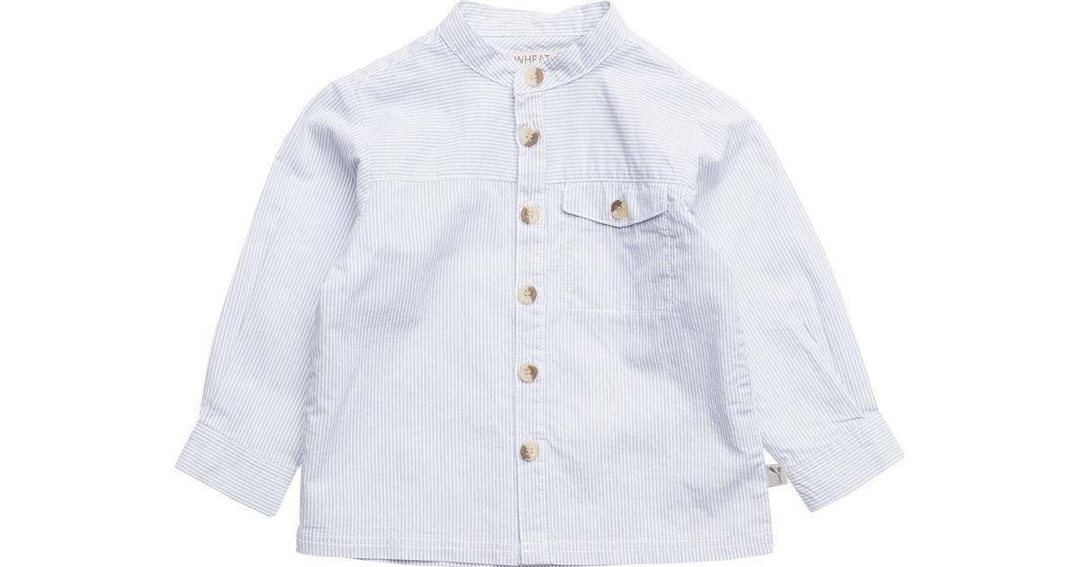 a62863c0f1f Wheat Axel LS Shirt - Ocean Blue - Sammenlign priser hos PriceRunner