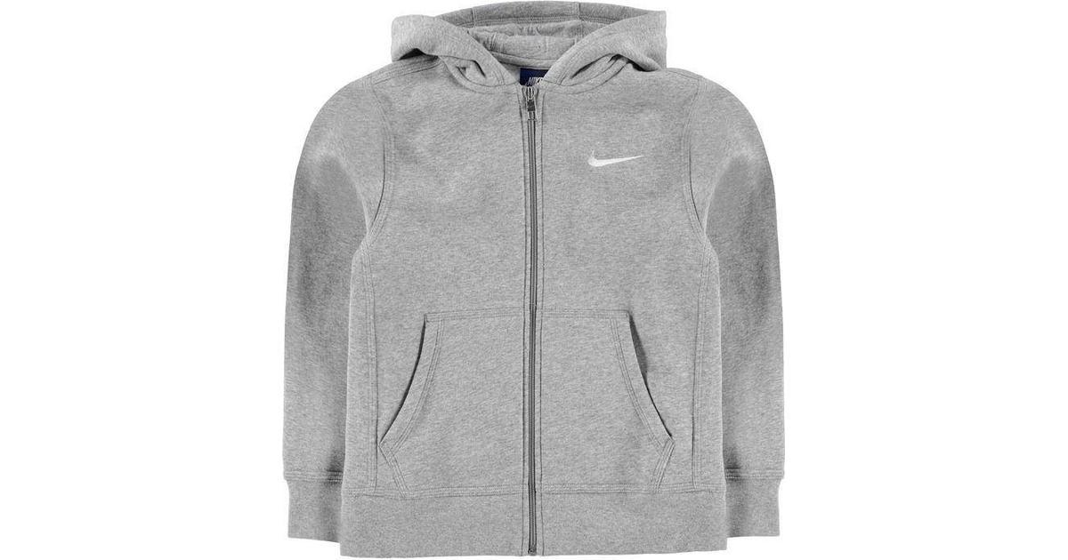 a0761539c27 Nike Brushed Fleece Full Zip - Dark Grey Heather/White (619069-063) - Sammenlign  priser hos PriceRunner