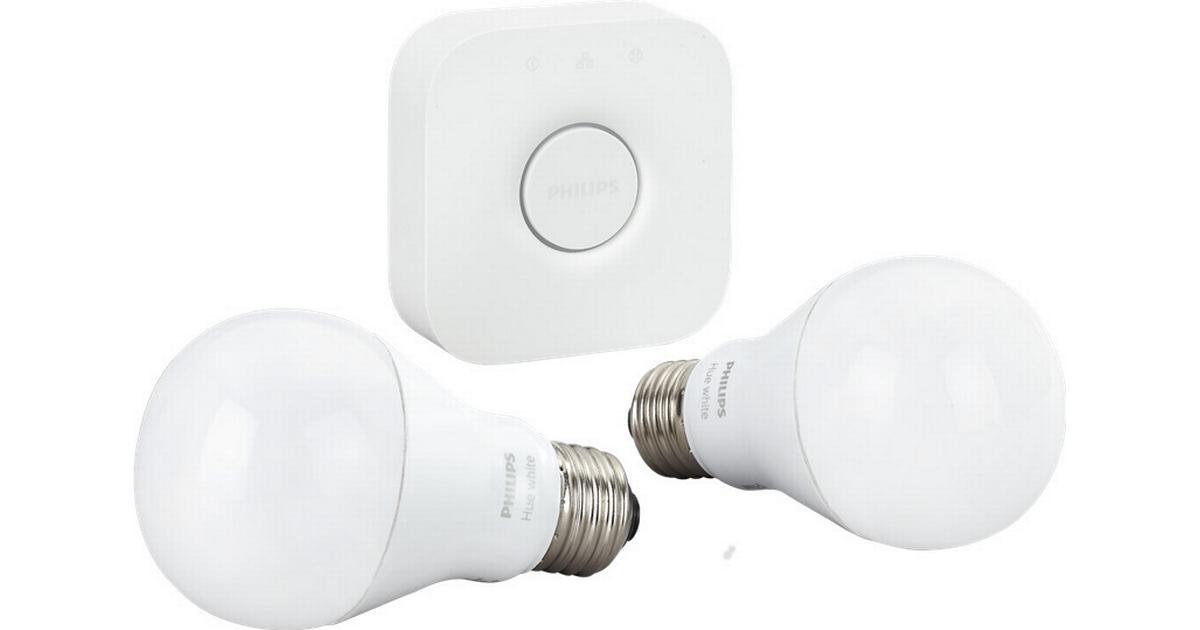 a6039b29da6 Philips White 9.5W E27 Startpakke - Sammenlign priser hos PriceRunner