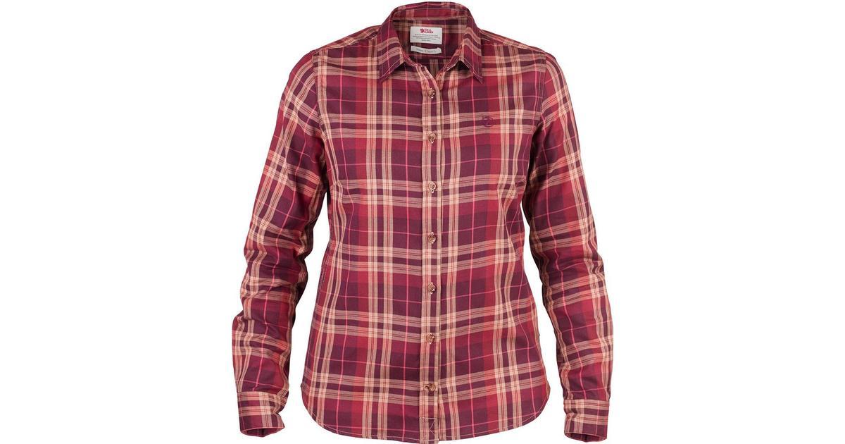 49768ac4 Fjällräven Övik Flannel Shirt Dark Garnet - Sammenlign priser hos  PriceRunner