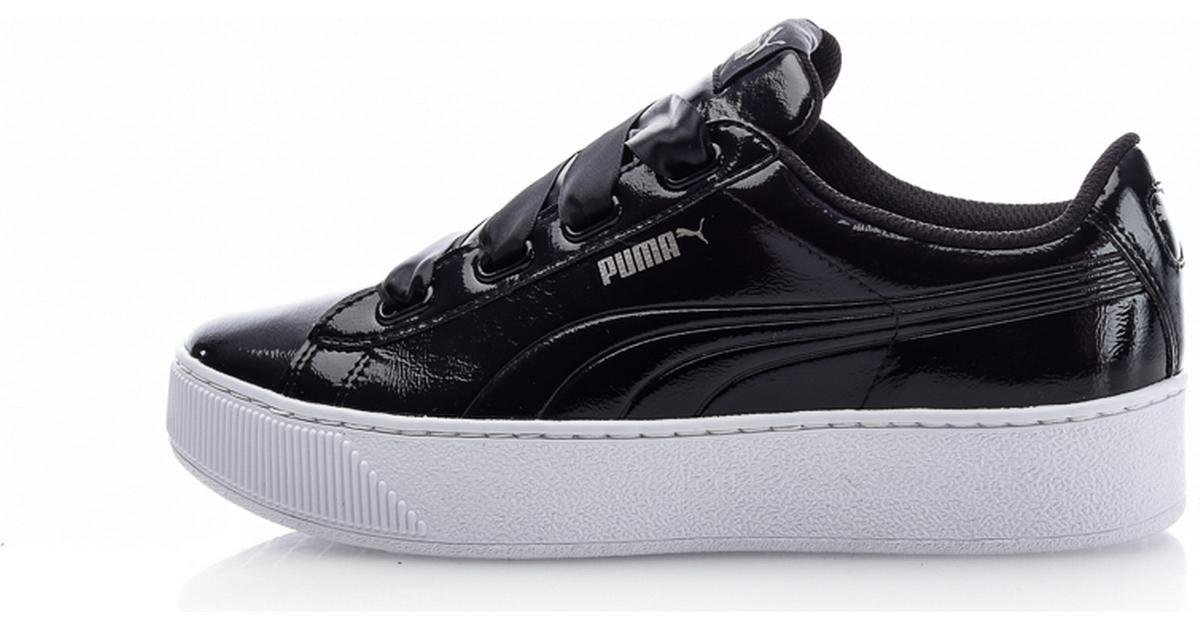 6ce799e50cec Puma Vikky Platform Ribbon - Black - Sammenlign priser hos PriceRunner