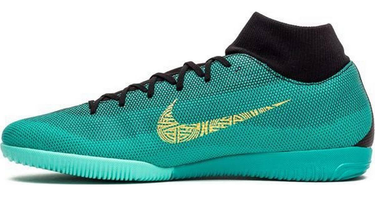 purchase cheap f9ff3 ee051 Nike MercuriaLX Superfly VI Academy CR7 IC - Black/Turquoise/Gold -  Sammenlign priser hos PriceRunner