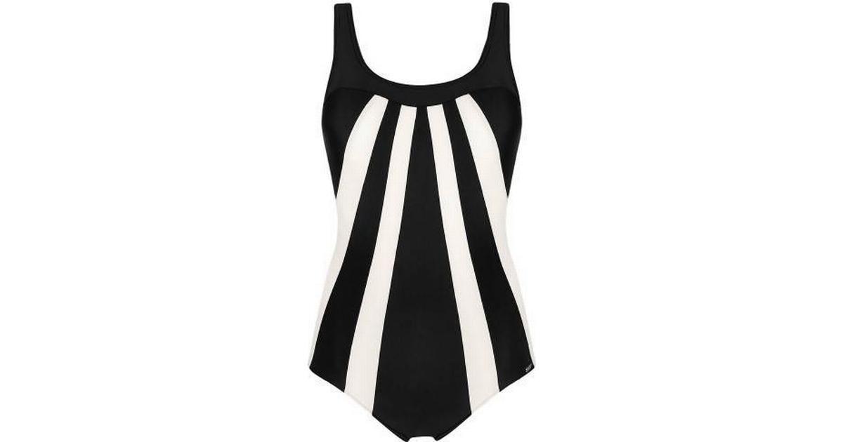 Abecita Serpentine Swimsuit Black White - Hitta bästa pris ... 8b60f3d53a6c5