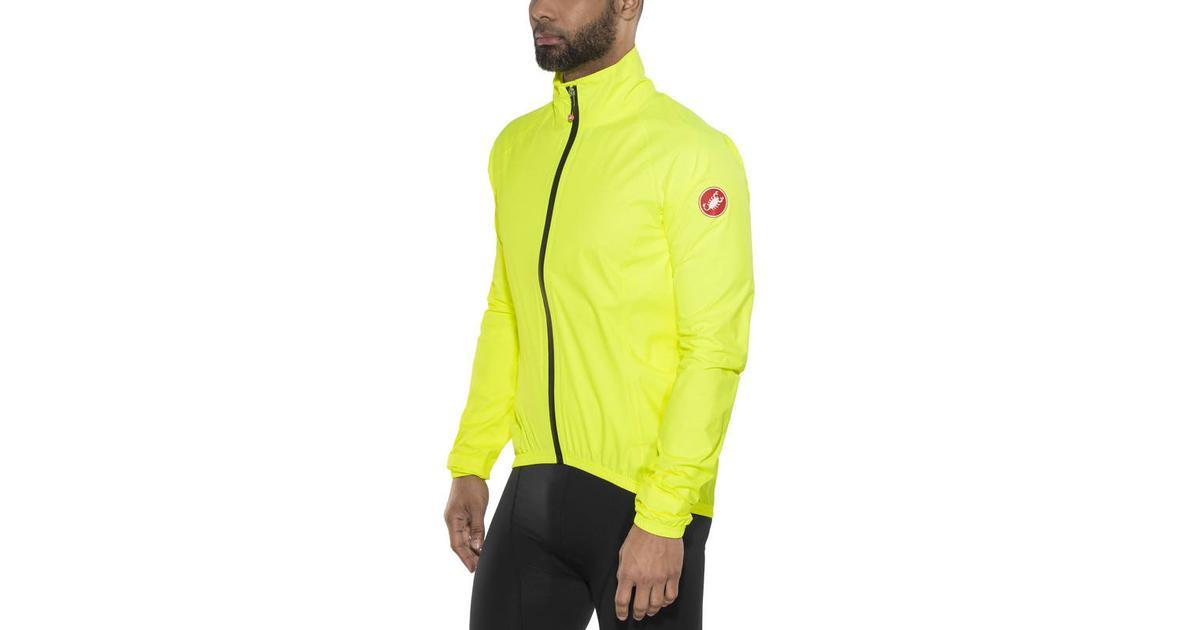 1419c7018 Castelli Emergency Rain Jacket - Yellow Fluo