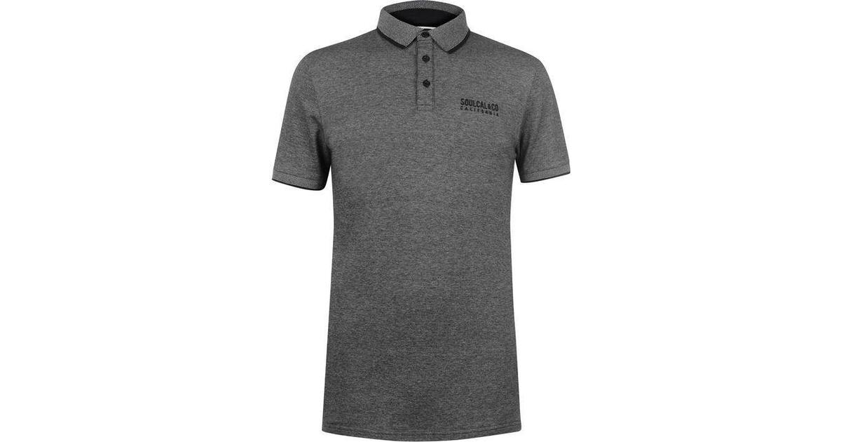 Mens SoulCal Tipping Polo Shirt Short Sleeve Classic Fit Top Collar Design