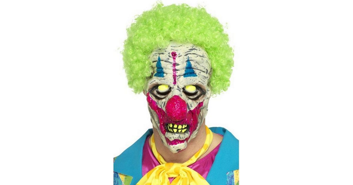 Smiffys UV Black Light Clown Mask - Hitta bästa pris ca9d53ae0564d