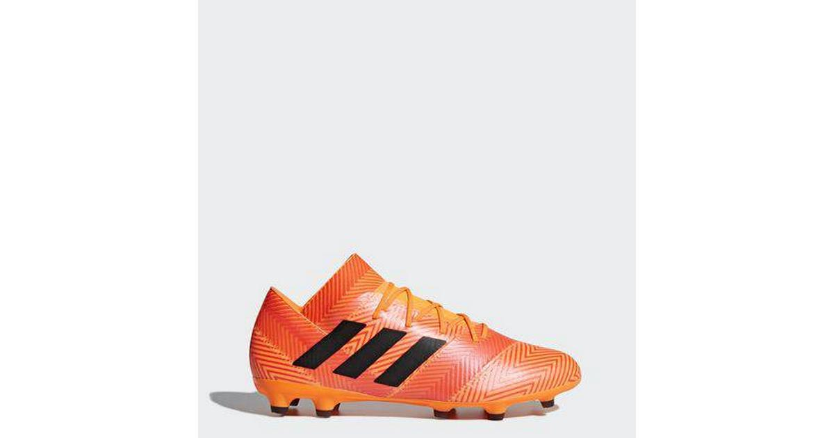 71734be4b8d1 Adidas Nemeziz 18.2 FG M - Black Orange Red - Sammenlign priser hos  PriceRunner