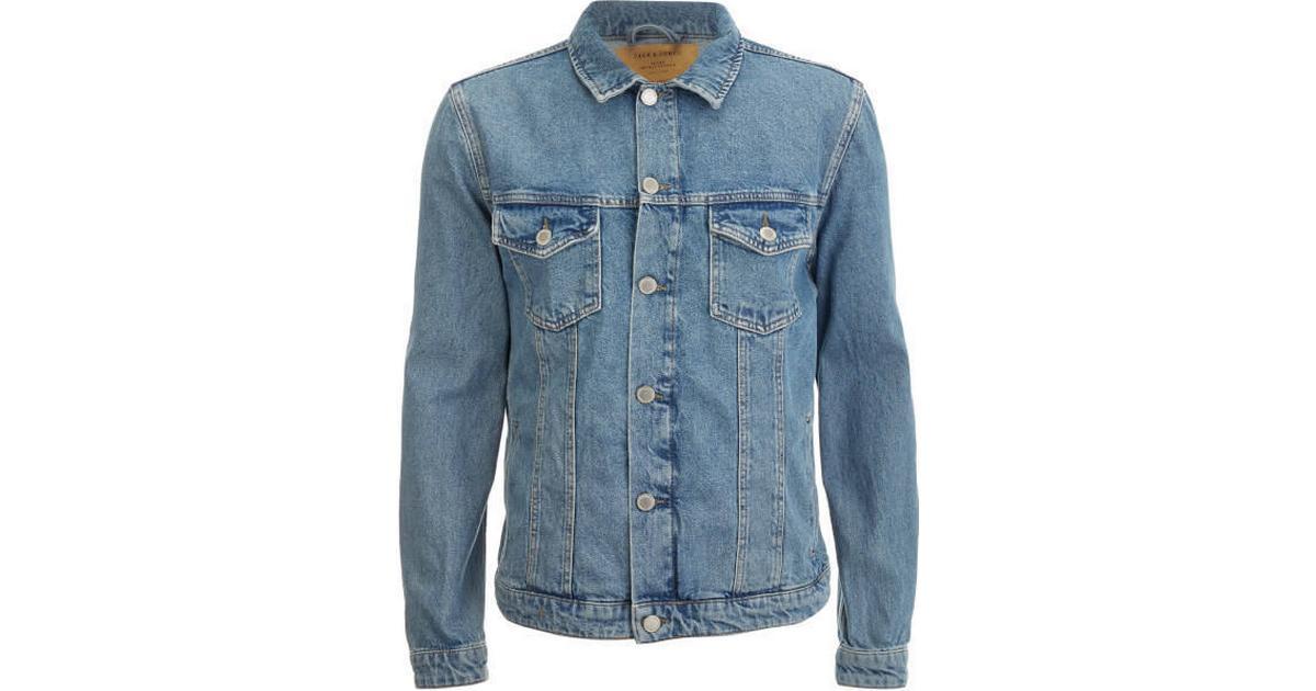 15e641ba Jack & Jones Casual Denim Jacket - Blue/Blue Denim - Sammenlign priser hos  PriceRunner