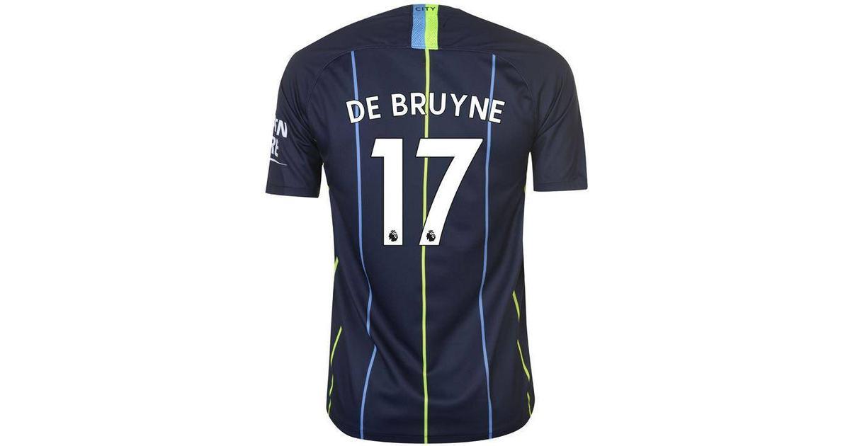 new styles fc45f d6a04 Nike Manchester City Away Jersey 18/19 De Bruyne 17. Sr - Sammenlign priser  & anmeldelser på PriceRunner Danmark