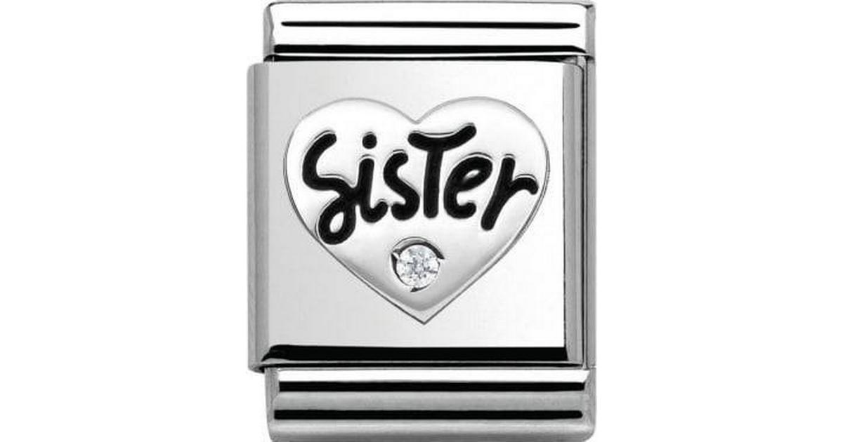 Nomination Composable Big Link Sister with Stone Stainless Steel Silver  Charm w. Cubic Zirconia (332315 01) - Hitta bästa pris cf6f4fbe1cad