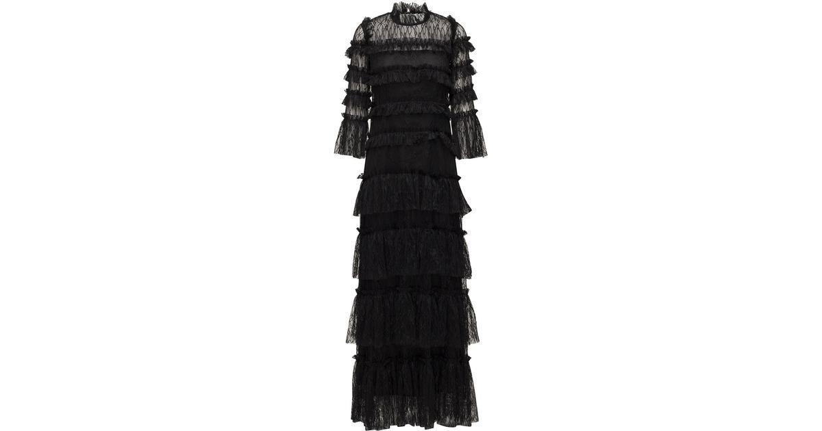 908eab5d41d3 By Malina Carmine Maxi Dress - Black - Sammenlign priser hos PriceRunner