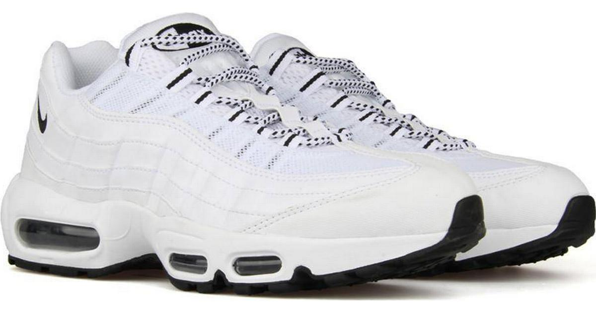 check out 6ca80 433a4 Nike Air Max 95 - White Black - Sammenlign priser hos PriceRunner