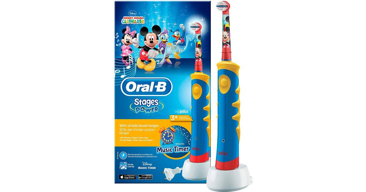 Oral-B Stages Power Kids Rechargeable Disney Mickey Mouse Advance Power 950  - Hitta bästa pris 7781d03770dbd