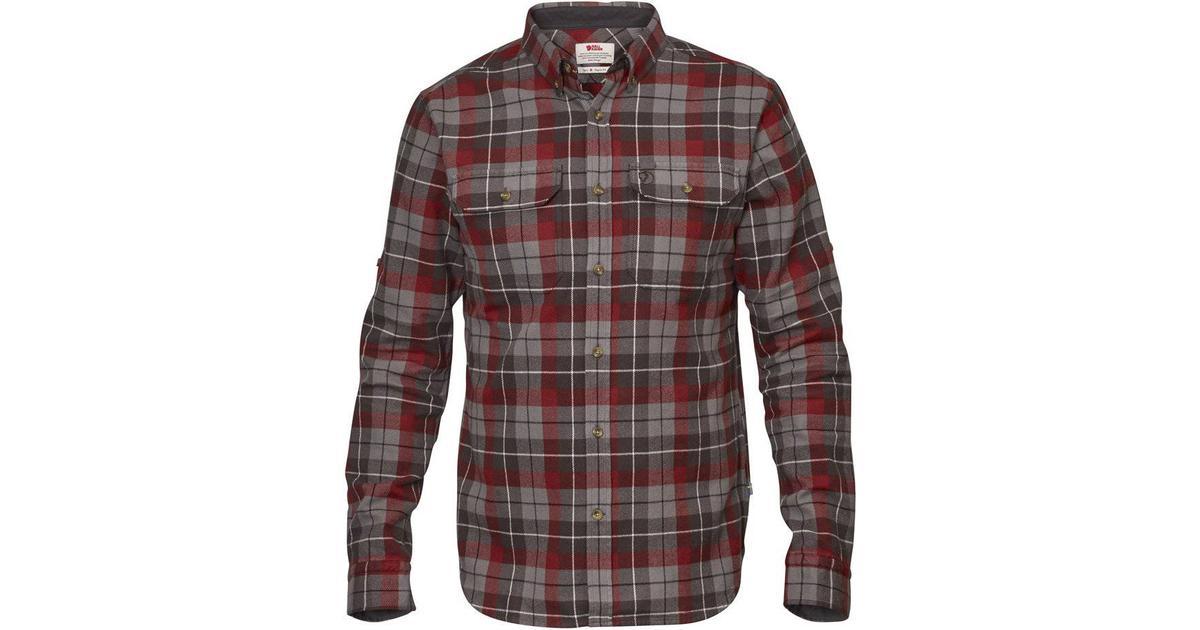 17ae3991 Fjällräven Singi Heavy Flannel Shirt - Dark Grey - Sammenlign priser hos  PriceRunner