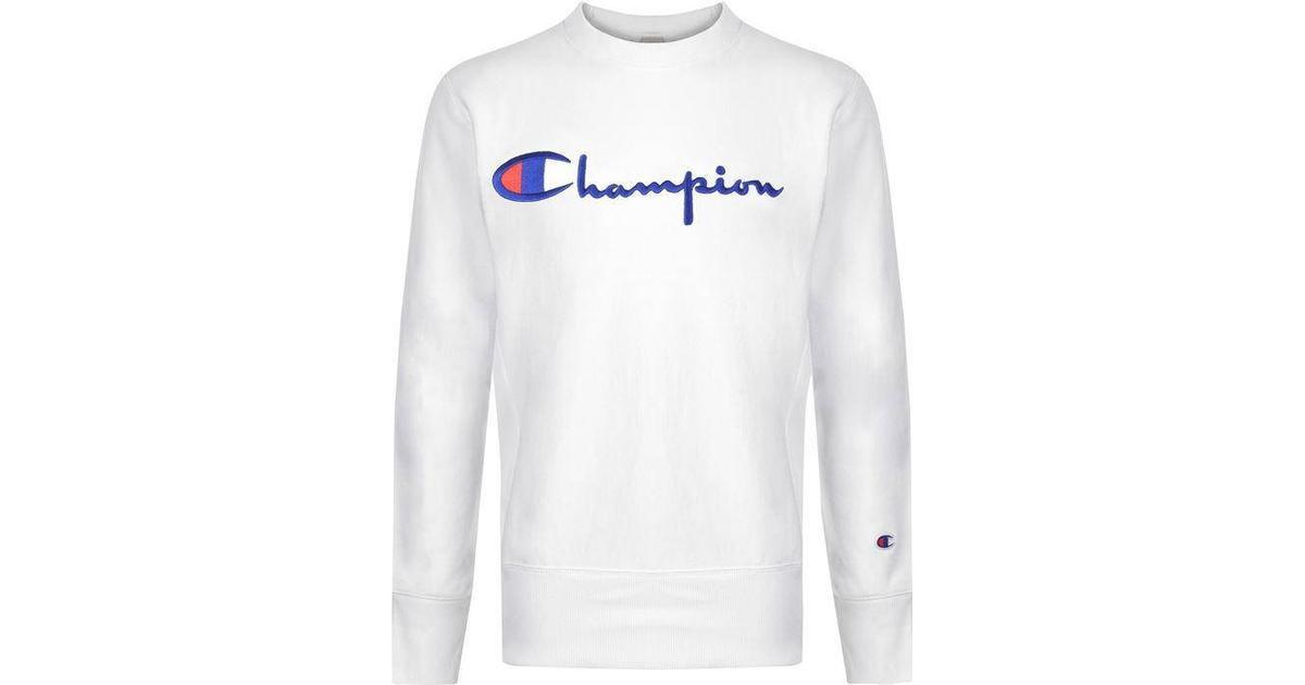 Sweatshirt Logo White Weave Script Sammenlign Reverse Champion SGMUVpqz