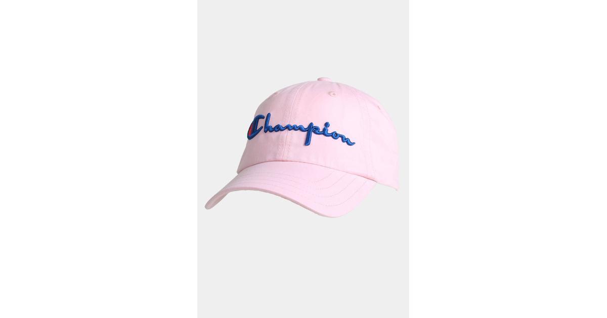 72719cf41 Champion Classic Script Logo Baseball Cap Pink - Sammenlign priser hos  PriceRunner