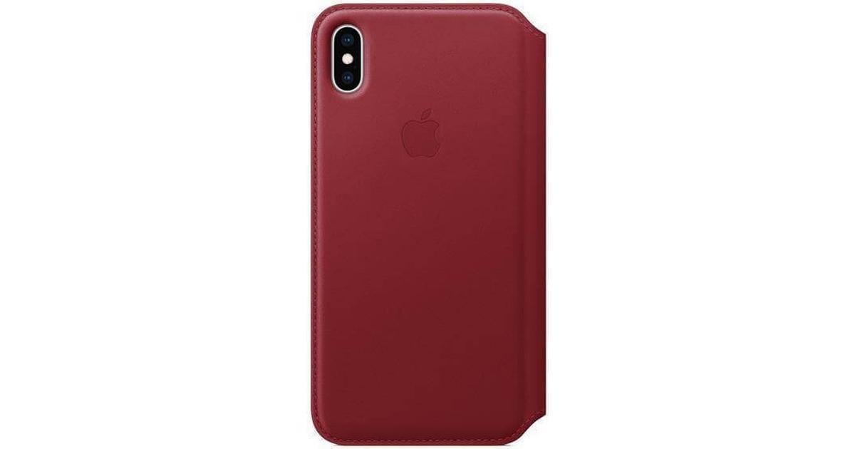 Apple Leather Folio Case (PRODUCT)RED (iPhone XS Max) - Hitta bästa pris a315aee79f244