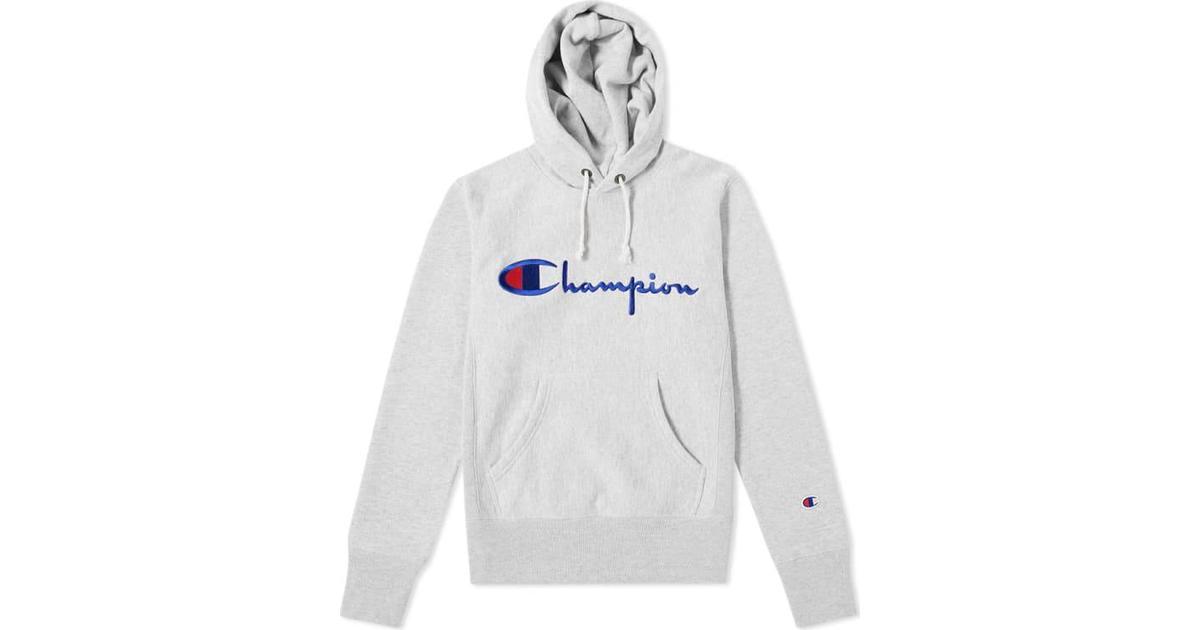 4edd1b28 Champion Script Logo Reverse Weave Hoodie Light Grey - Hitta bästa pris,  recensioner och produktinfo - PriceRunner