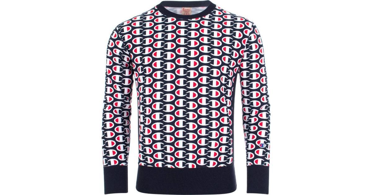 ba1af0c85e98 Champion Allover C Logo Print Reverse Weave Sweatshirt - Dark Turquoise -  Hitta bästa pris