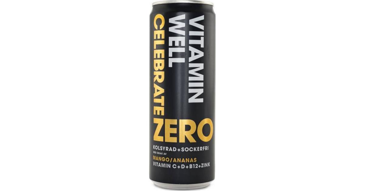 00ca13e7700b Vitamin Well Zero Celebrate Mango/Ananas 355ml - Hitta bästa pris,  recensioner och produktinfo - PriceRunner
