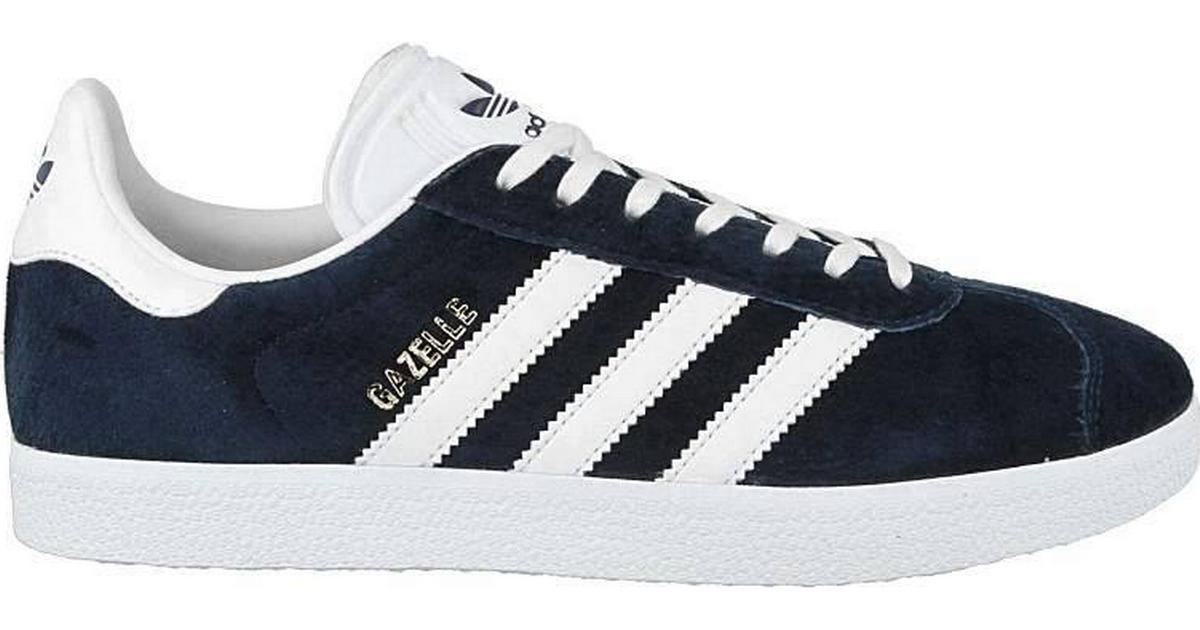 7893d643204 Adidas Gazelle - Blue/White/Gold - Sammenlign priser hos PriceRunner