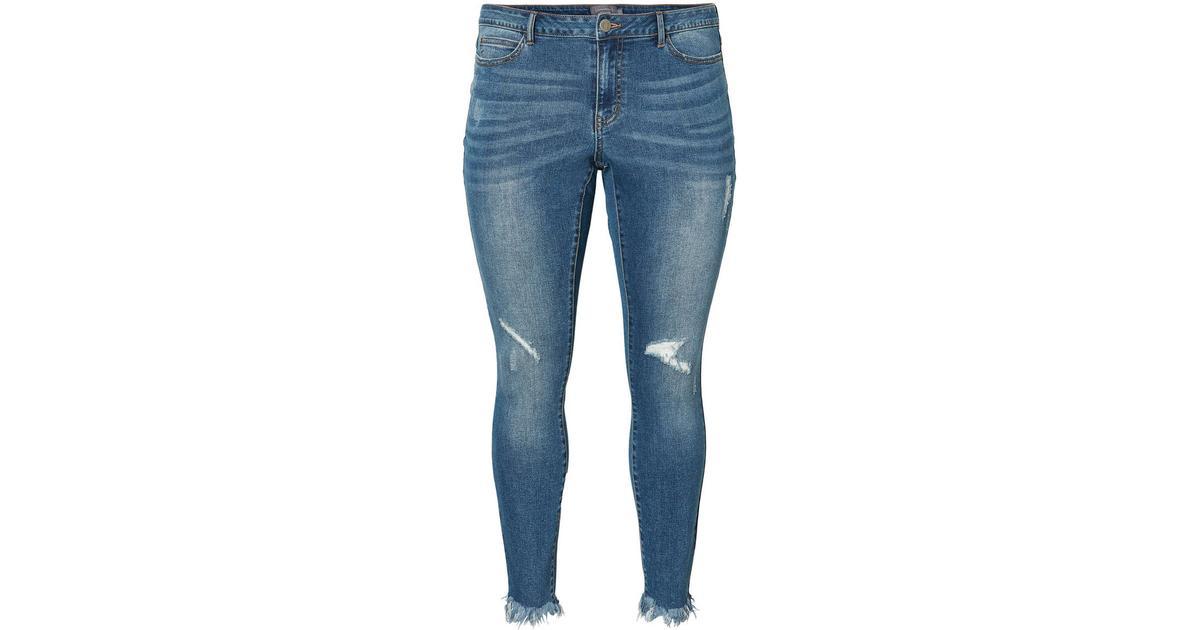 Junarose Ankle Length Jeans - Blue Medium Blue Denim - Sammenlign priser  hos PriceRunner 712592961d