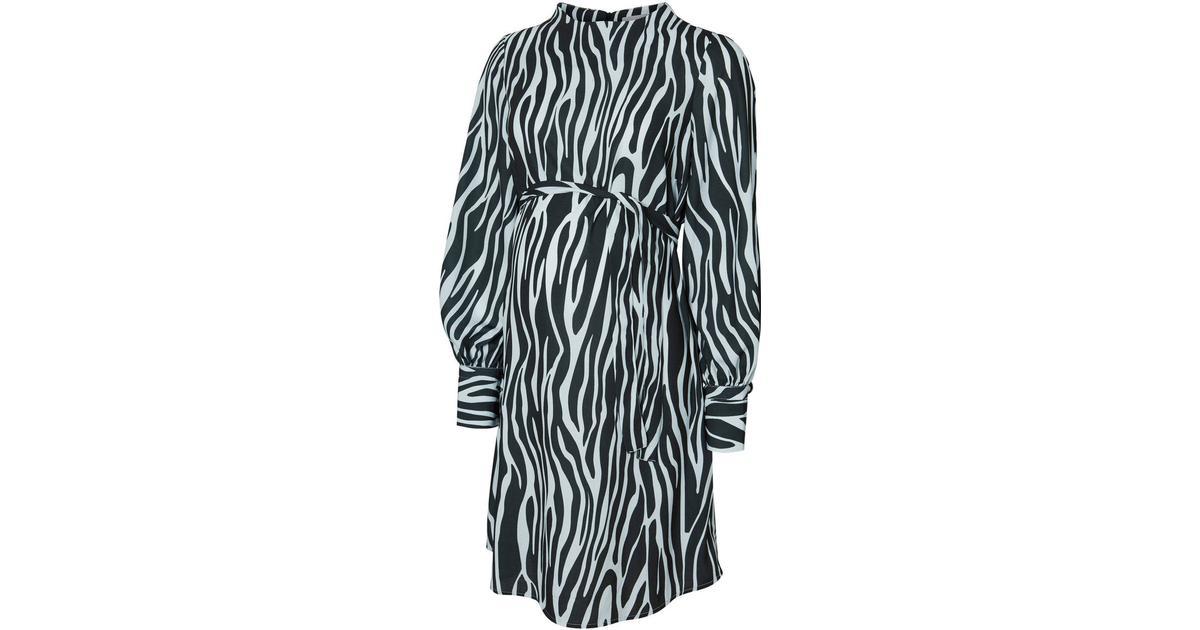 cc940158 Mama.licious Printed Maternity Dress Green/Scarab (20009306) - Sammenlign  priser hos PriceRunner