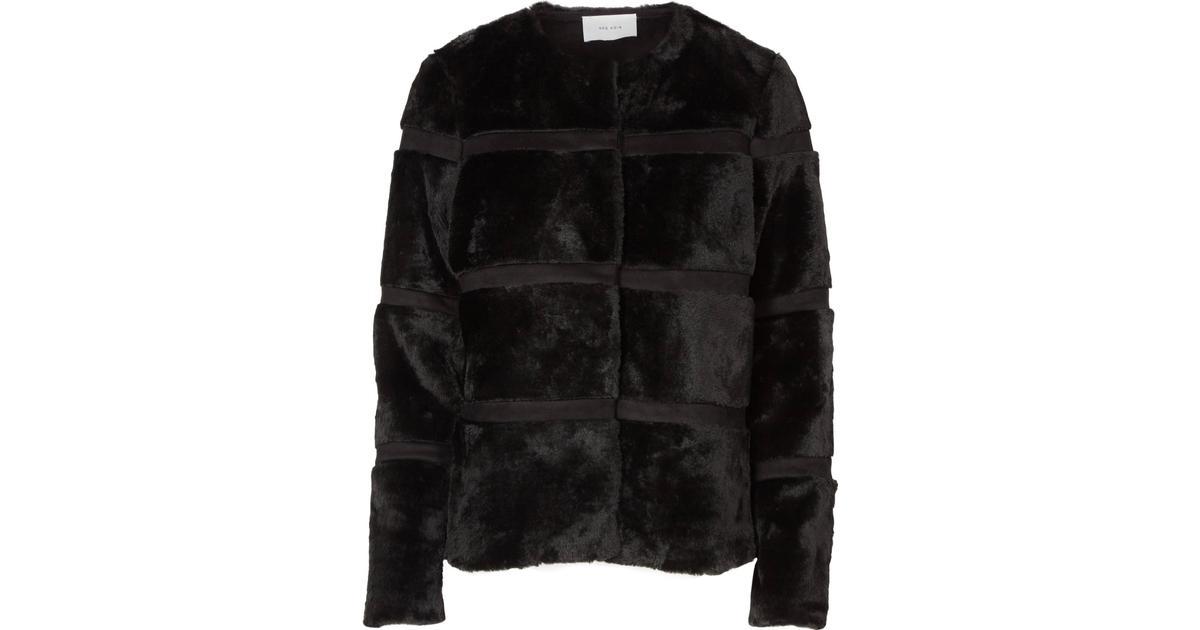 c6ab1f67 Neo Noir Kahla Faux Fur Jakke - Sort - Sammenlign priser hos PriceRunner