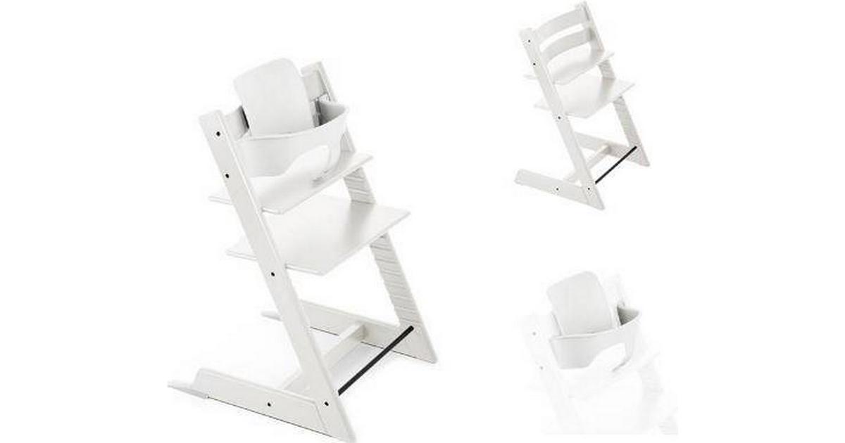 Ungdommelig Stokke Tripp Trapp Hvid Højstol Inkl Hvidt Baby Sæt - Sammenlign CL-86