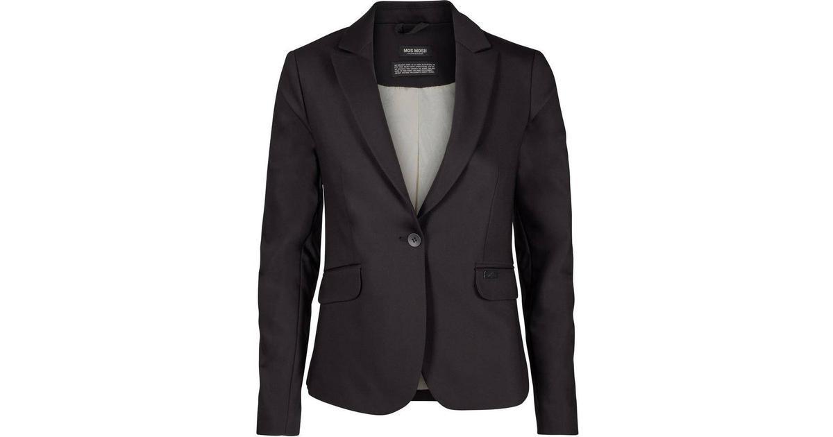 Mos Mosh Blake Night Blazer - Black - Sammenlign priser hos PriceRunner f2765404096e8