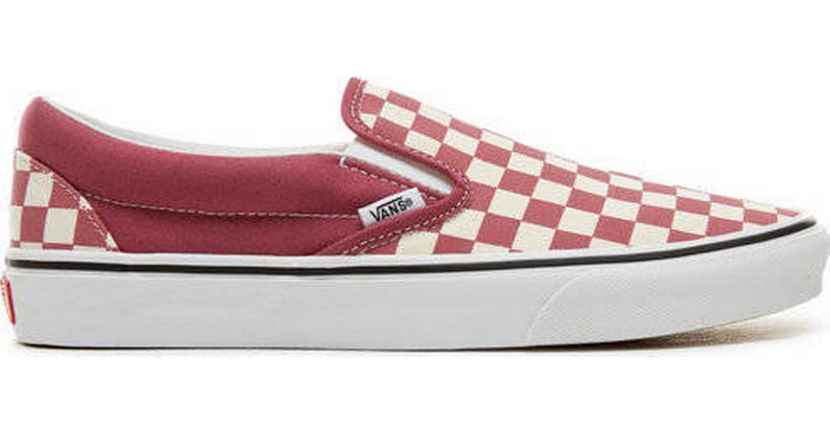 ac338329df03 Vans Color Theory Checkerboard Classic Slip-On - White Pink - Sammenlign  priser hos PriceRunner