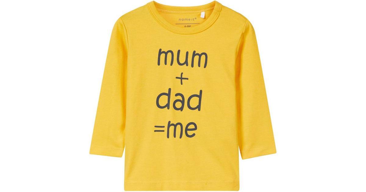 548aaf3b Name It Baby Printed Long Sleeved T-shirt - Yellow/Yolk Yellow (13159152) -  Sammenlign priser hos PriceRunner