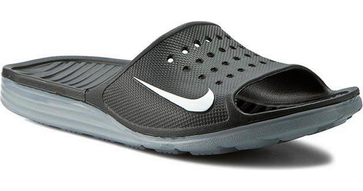6d4e02561e4 Nike Solarsoft Slide - Black/White - Sammenlign priser hos PriceRunner
