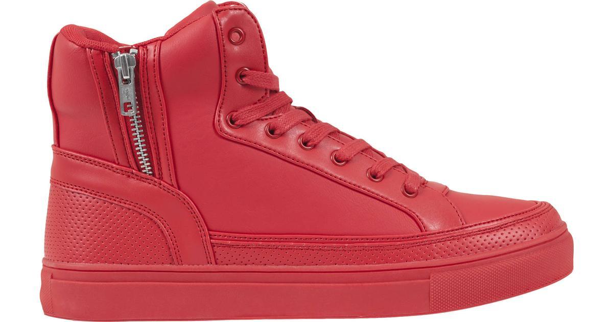 1a0060b0f98 Urban Classics Zipper High Top - Fire Red - Sammenlign priser hos  PriceRunner