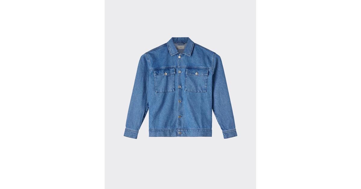 9e4b6b17 Minimum Trols Denim Jacket - Light Blue - Sammenlign priser hos PriceRunner